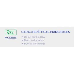 CARRIER QSM018DS A+ REFRIGERACIÓN 5,2 kW CALEFACCIÓN 5,4kW